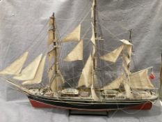 'Cutty Sark', large wooden model ship,