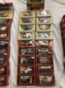 Twenty assorted Matchbox Models of Yesteryear boxed vehicles, Renault ambulance, Preston tram car,