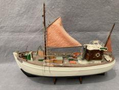 'Mary-Ann' E382 wooden model boat, 55cm,