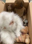 Five assorted soft toys including orangutan,