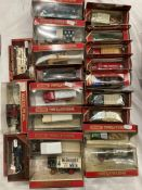 Twenty assorted Matchbox Models of Yesteryear boxed vehicles, Unic taxi,