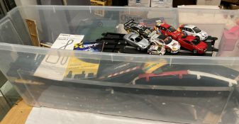 Large quantity of Hornby Sports Scalextric including track, four controllers, power packs,