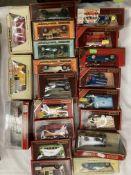 Twenty assorted Matchbox Models of Yesteryear boxed vehicles, BMW 507, AC Mack van,