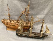 'HMS Endeavour', wooden model ship,