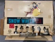 Walt Disney's Snow White and the Seven Dwarfs 23 piece china tea set (one cup handle broken,
