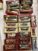 Twenty assorted Matchbox Models of Yesteryear boxed vehicles, Bugatti Type ST, Ferrari Dino 246/V12,