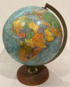 "Philips' Scan-Globe A/S Denmark 12"" globe on stand"