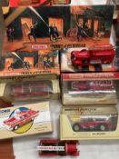 Corgi Classics 97397 Chevrolet Fire Chief Pensacola car and six assorted Matchbox Models of
