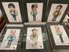 Twenty-one Embassy Snooker Celebrities mounted prints including Joe Johnson, Cliff Thorburn,