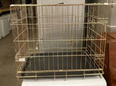 A portable animal cage 60 x 45 x 50cm high