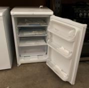 A HotPoint Iced Diamond RLAV 21 under counter fridge