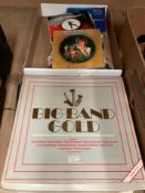 LP box set - Big Band Gold, fourteen various LPs - compilations, Buddy Holly, Glen Campbell,