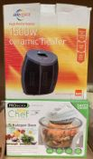 A Prolectrix Chef 7 litre halogen oven and an Airforce 1500w ceramic heater - both boxed (2)