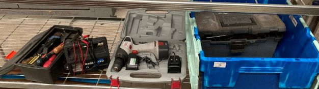 A Pro 12 volt drill driver complete with battery and charger in case,
