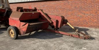 A MASSEY FERGUSON 20-8 HAY BALING MACHINE - Red. From a deceased estate. Serial No: 66295.