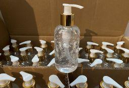 192 x 200ml pump top bottles of Rosdon Group UK hand sanitiser (Unlabelled clear plastic bottles) -