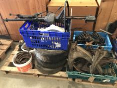 Imp Super (1975) (mainly): Chassis items: swing axles, sub-frames, engine beam, steering swivels,