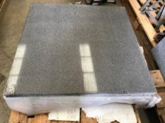 Thirteen x black basalt tiles (the same stone as the Giant;s Causeway),
