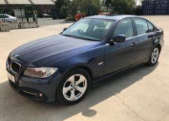 BMW 320D EFFICIENT DYNAMICS 2.0 FOUR DOOR SALOON - Diesel - Blue - Black leather interior.