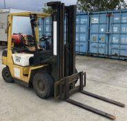 TCM FG25N4T 2.5 tonne gas forklift truck - model no: FG25N4T - side shift - yellow.