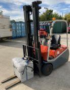 BT CARGO 1.5 tonne electric forklift truck - side shift - orange.
