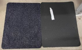 20 x black speckled rubber backed mats - 60 x 80cm
