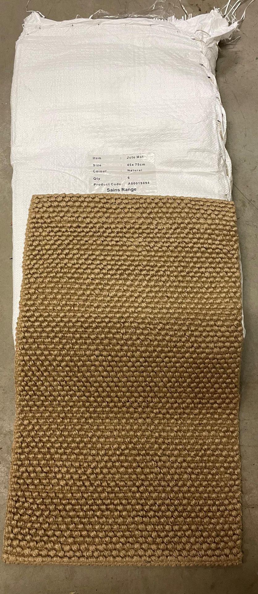 18 x Natural Jute mats 45 x 75cm (3 x outer packs)