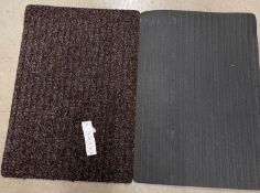 20 x brown rubber backed mats - 55 x 80cm
