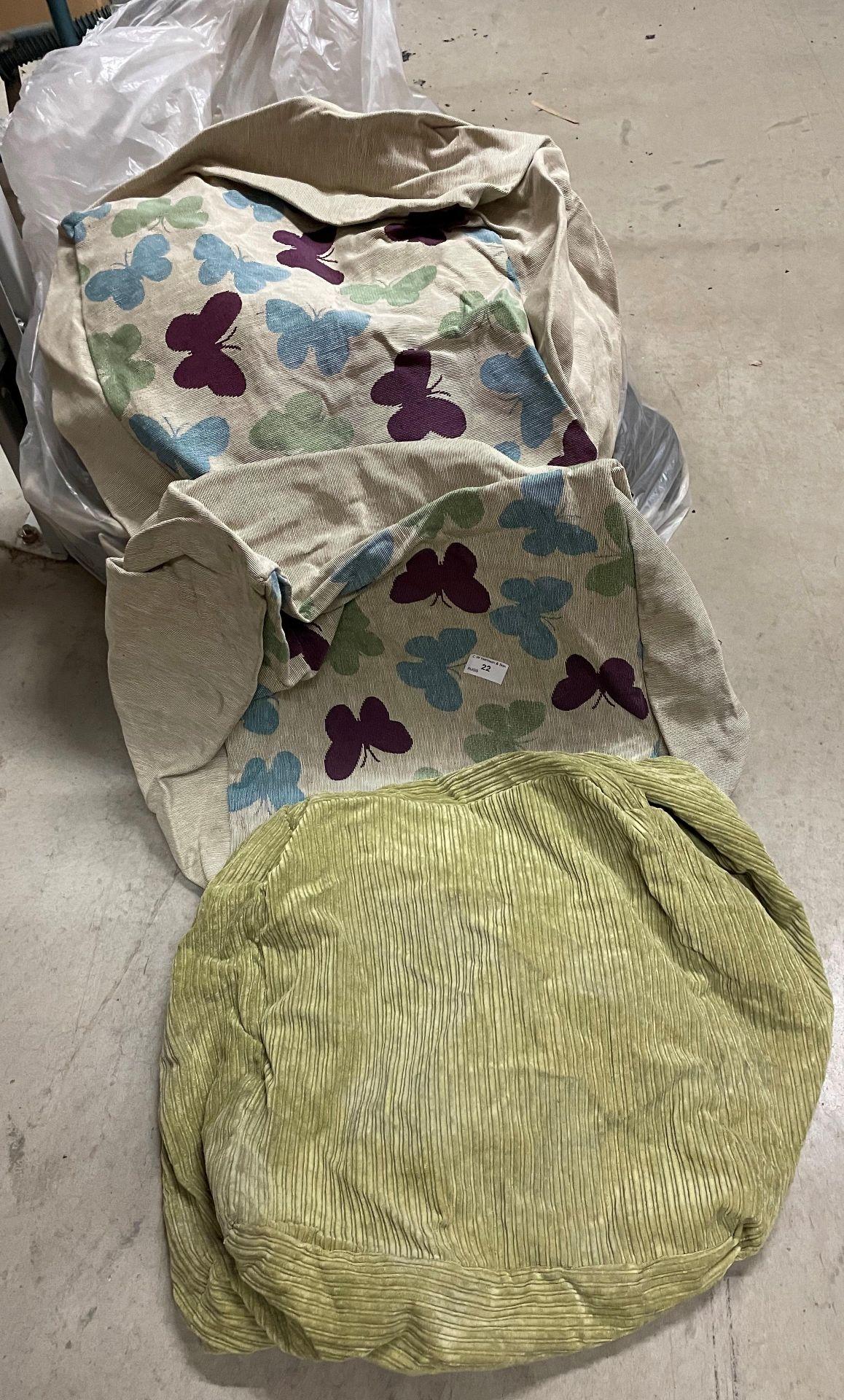 24 x bean bag covers - 7 x green,