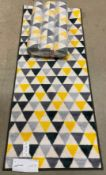 15 x Sainsbury's patterned washable runners (in packs of 3) - 57 x 150cm