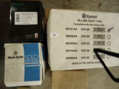 4 x Fans XID100, C6PR, SELV12,