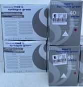 5 x boxes(200 pairs) of SemperMed Syntegra Green Latex Free, Powder Free,