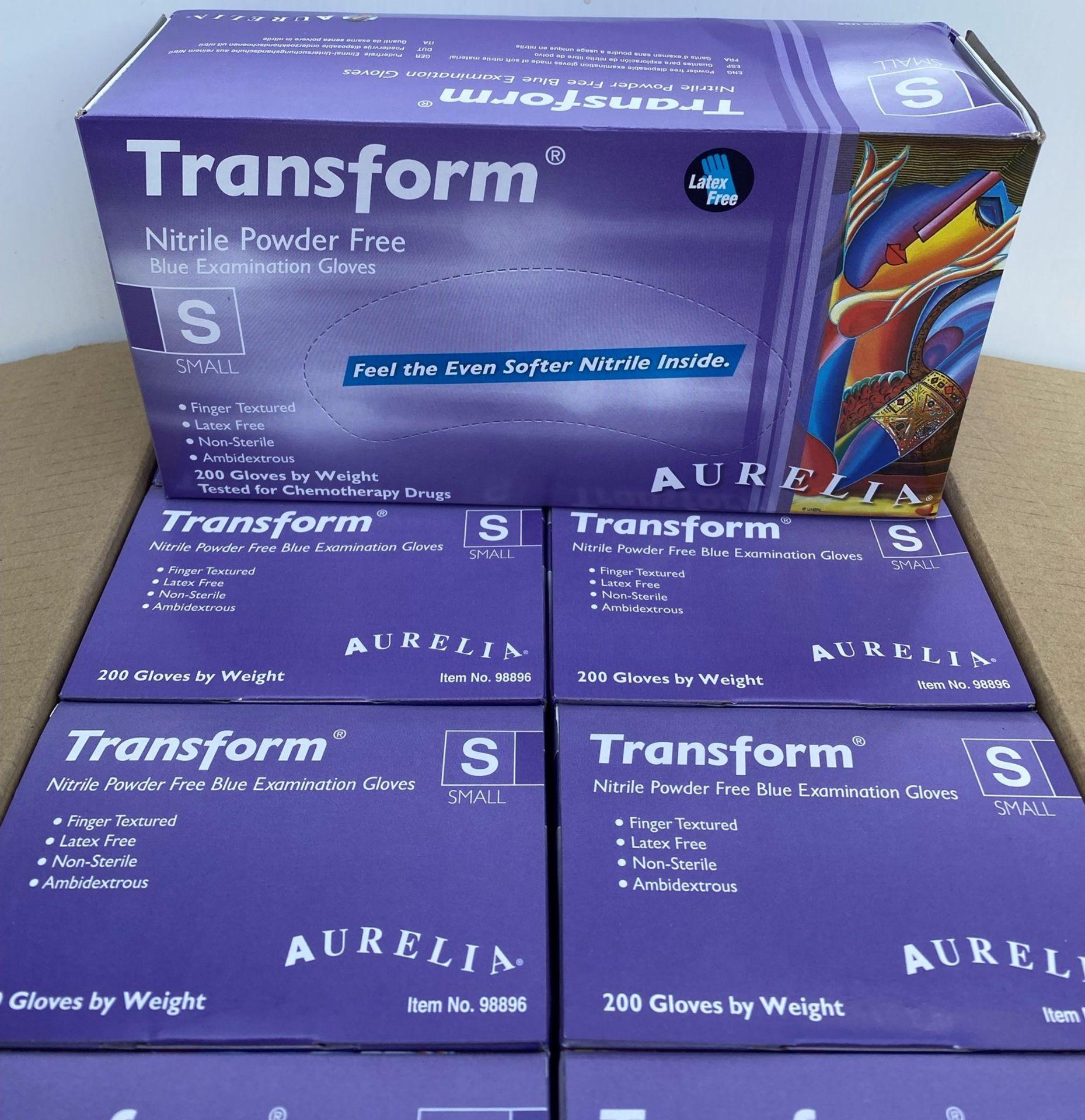 10 x boxes of 200 x Aurelia Transform Nitrile Powder Free Blue Examination Gloves - Size Small - - Image 3 of 4