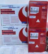 5 x boxes (200 pairs) of SemperMed Syntegra UV Latex Free, Accelerator Free,