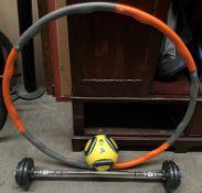 Three items - Adidas Jabulani Glider II replica match football (size 5),
