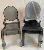 4 x Siesta Elizabeth Transparent Black Stacking Chairs