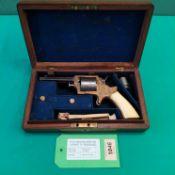 A cased Tranters patent seven shot revolver in .