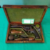 A five shot percussion 54 bore revolver retailed by J.