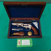 """A Colt .31"""" model 1849 pocket revolver, S/No.88313 c1854 with 4"""" barrel, matching No."""
