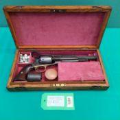 A Civil War era Remington percussion new model Army revolver in .44 cal, S/No.
