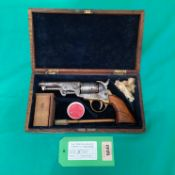 """A 'Colt style' five shot percussion pocket pistol in .31"""" cal, S/No."""