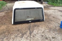 Fibre glass pick up canopy. Bottom length 4ft3 in top length 5ft 3in height 2ft 3in width 4ft 7in.