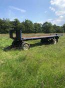 25ft Flat Straw Trailer. Stored near Bungay.