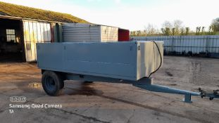 3 tonne tipping trailer with a new body built on a Ferguson chassis. Stored near Eye, Suffolk.