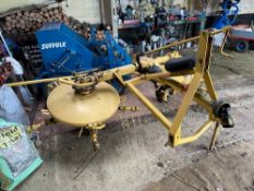 New Holland Sperry Hay Turner c/w instruction book and parts book. Stored near Woodbridge, Suffolk.