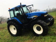 New Holland TM165 Tractor, 2000, Reg: X859 XEX, diesel, Hours: 3,972,