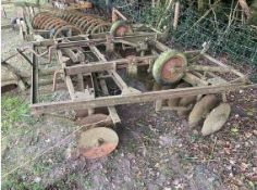 Set of tow along discs. Stored near Goring Heath, Reading. No VAT on this lot.