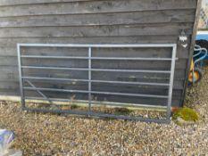 Metal 7 Bar Gate - 8ft x 4ft. Stored near Woodbridge, Suffolk. No VAT on this lot.