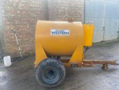 Richard Western Fuel Bowser - 1000 Litres - not bunded. Stored Faversham, Kent.