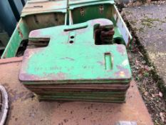 John Deere tractor leaf weights- 16 x 40kg, 8 x 50kg. Stored Leicestershire.